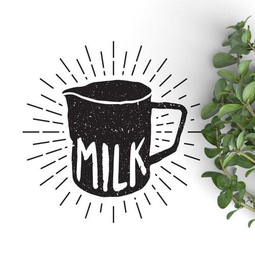 Logo concept for Milk cafe