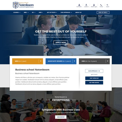 Responsive Website for Business School