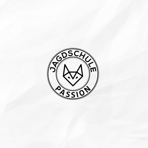 Modern, abstract logo for hunting school.
