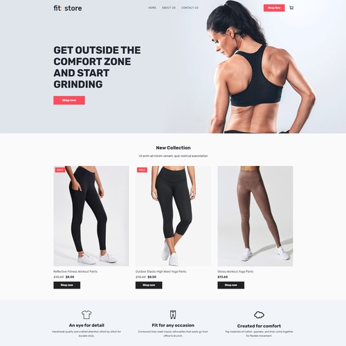 SOS Fitness Store Ecommerce template