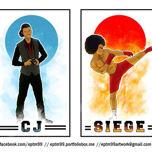 Create An Alter-Ego Japanese Anime Illustration (Photographer/MMA Fighter)
