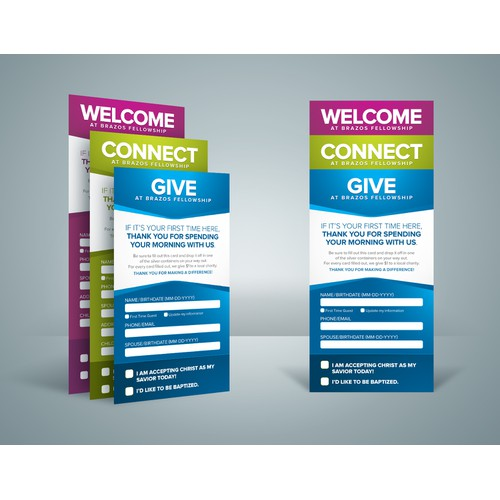 Design an Information Gathering Card : 1-to-1 designs to follow