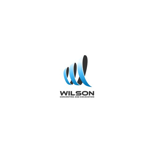 Elegant logo for Wilson Concreting and Excavation