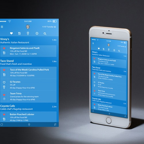 Restaurant search App design