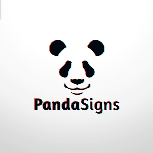 Logo concept for ''Panda signs''.