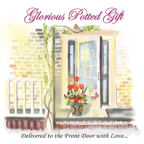 Create the next illustration for My Happy Dream, GLORIOUS POTTED GIFT  Delivered to the Front Door with Love....