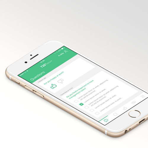 Simple question based iOS App