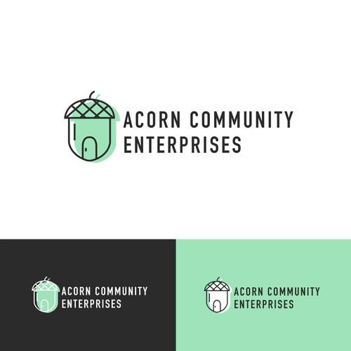 Bright minimalist logo for non-profit