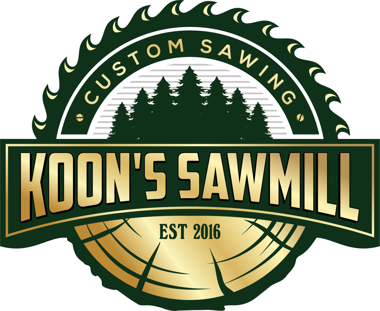 Design a modern logo with an old school feel for a sawmill company