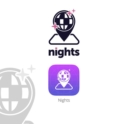 Nights mobile application logo and icon
