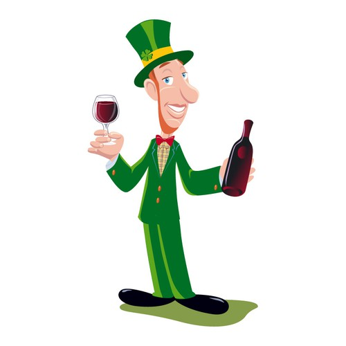 Irish waiter illustration.