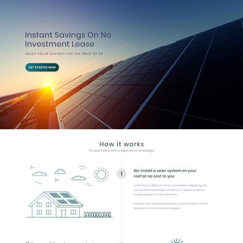Solar Panels Installation Landing Page Design