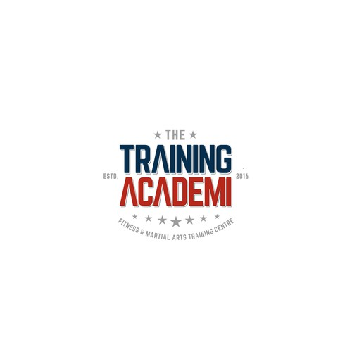 Simple and clean concept typography design for Training Academy