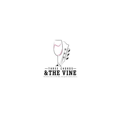 Logo tipo para a empresa THREE CHORDS&THE VINE