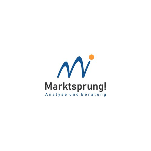 logo concept for Marktsprung, a business coaching, sales training and management consultant