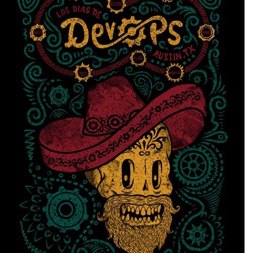 Los Dias de DevOps, rock a calavera and sugar skull theme