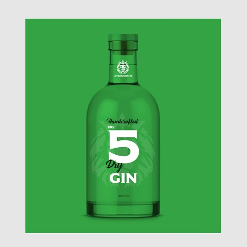 Atkinsons No 5 Gin Packaging Design Concept