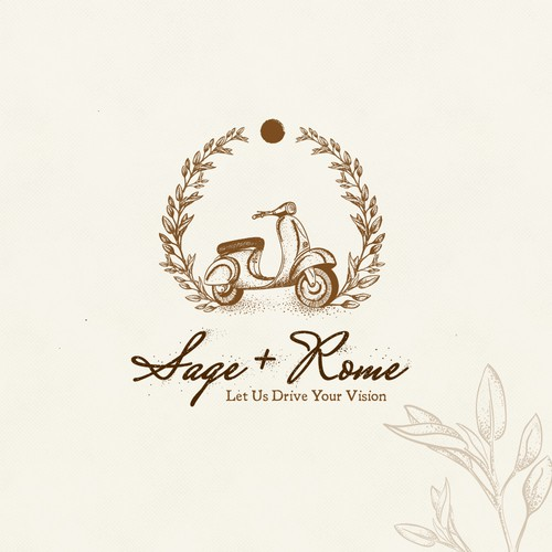 Vintage logo for event planner