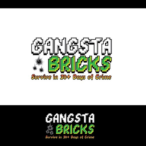 "Create a Fun Logo In Old-School Video Game Style - ""GangstaBricks.com"""