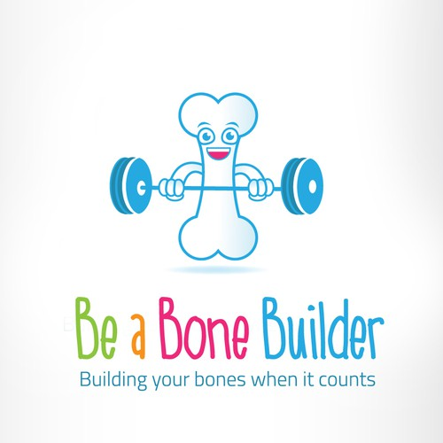 Create a fun design for bone health education program for K-teens