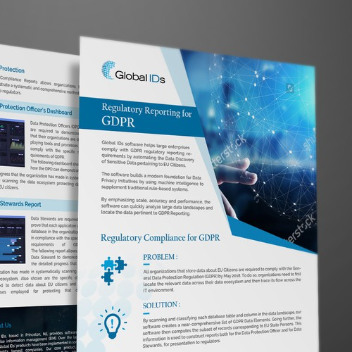 Clean and elegant design flyer for Global IDs