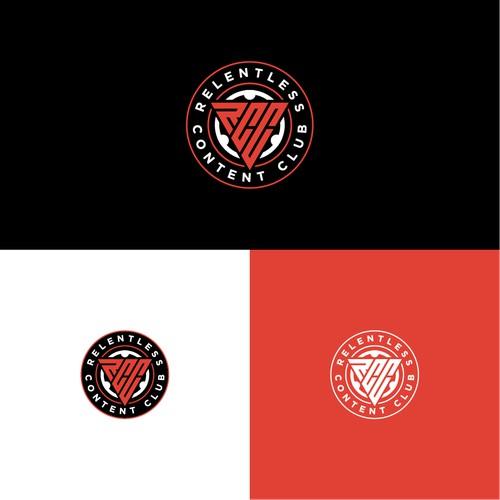 Emblem Logo for Relentless Content Club