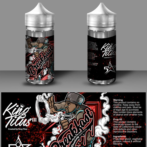 Eliquid label for King Titus