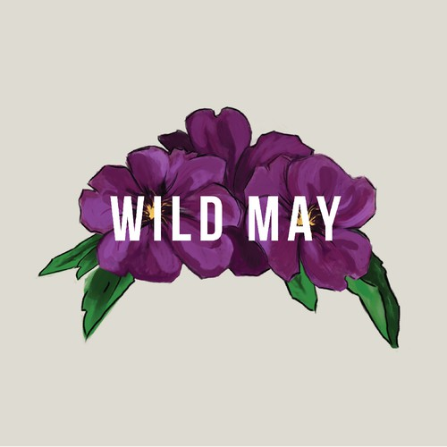 Simple, fun floral logo.