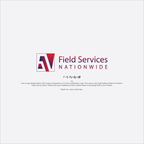 F+S+N combination Minimalist Gradient Logo