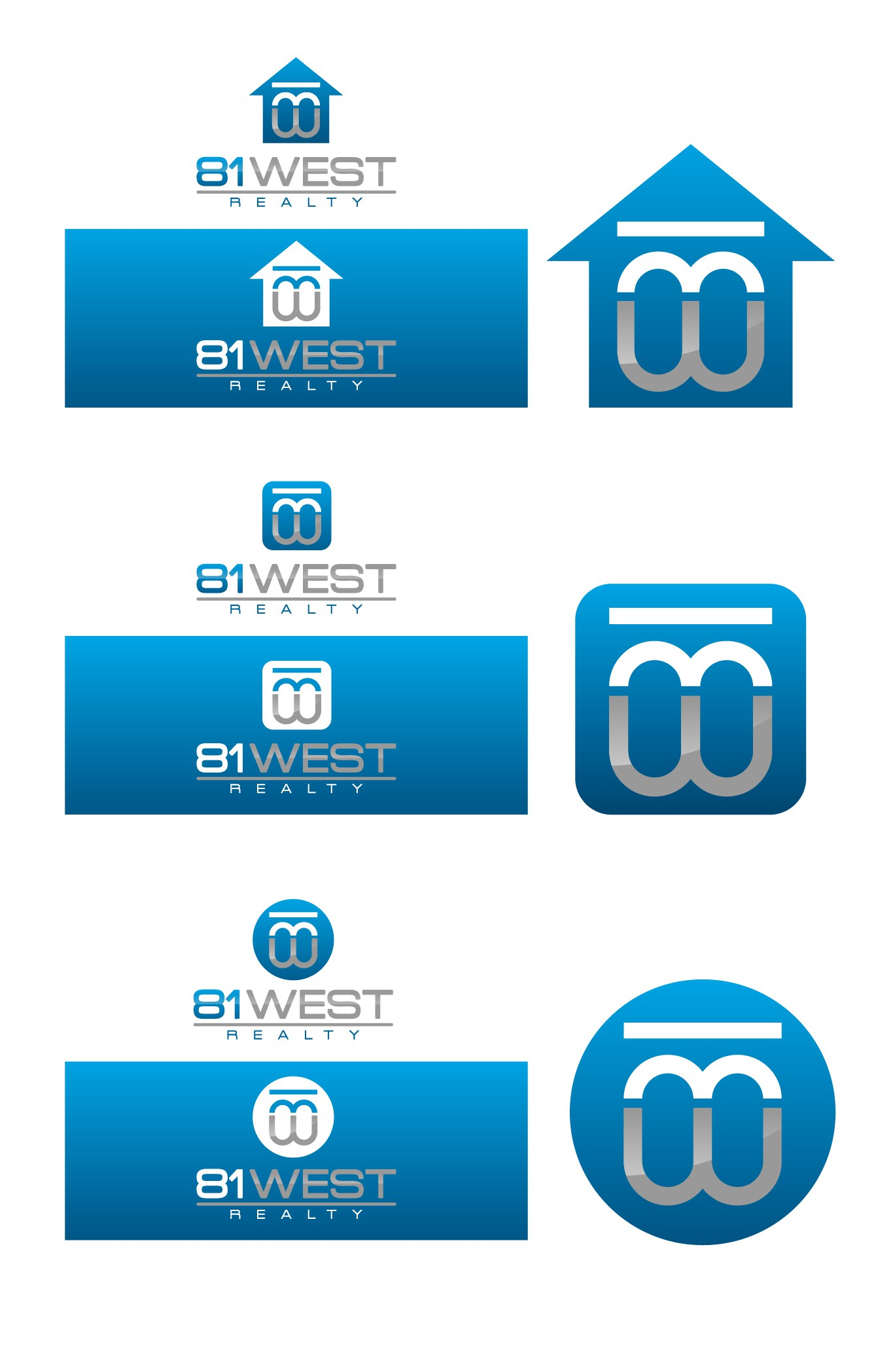 Create the next logo for 81 West Realty