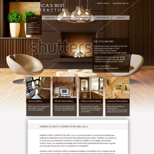 Elegant web page design