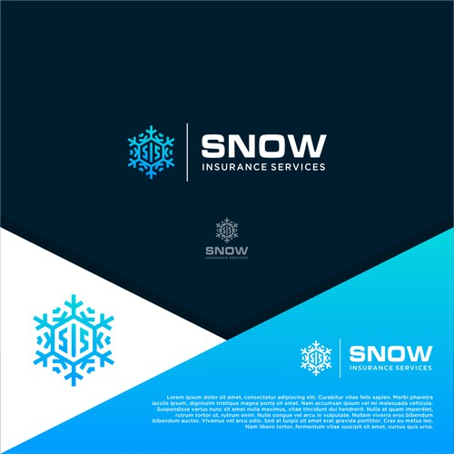 Logo design for Snow Insurance Service