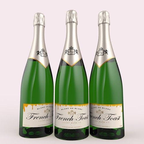 "Design referring to the ""toasting"" tradition for sparkling wines / USA"