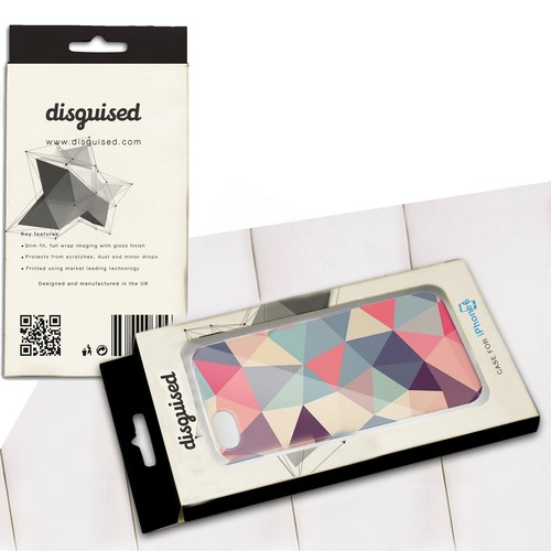 "Create modern & stylish phone case packaging for high-end phone case company ""disguised"""