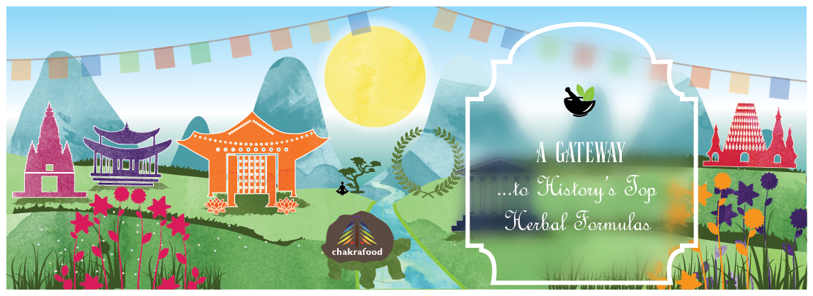 Create an illustrated homepage banner for an herbal healing company!
