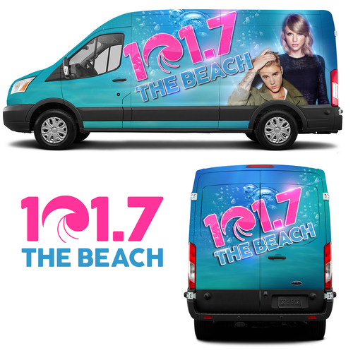 107.7 The Beach Radio Station Vehicle Wrap