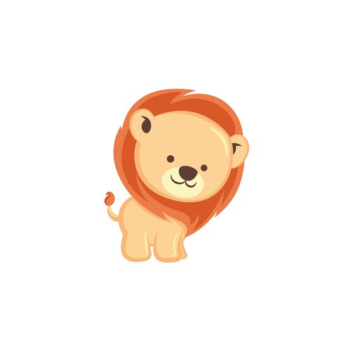 A sweet lion Character for a Preschool