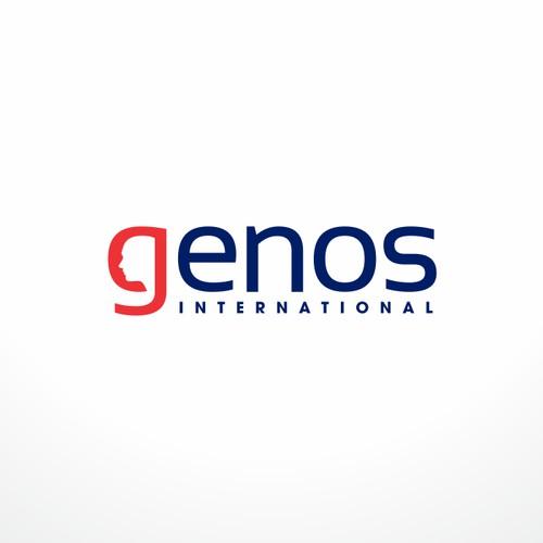 Genos International Logo Design
