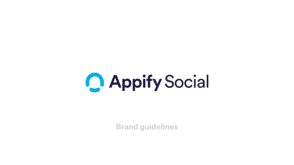 Branding for a social media software as a service company called Appify Social