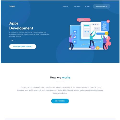 IT Firm website UI/UX