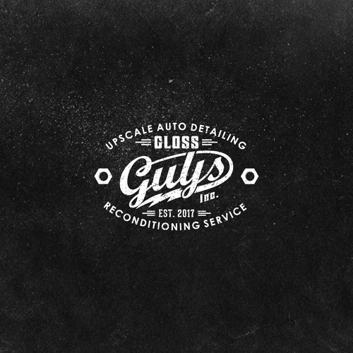 vintage logo for Gloss Guys