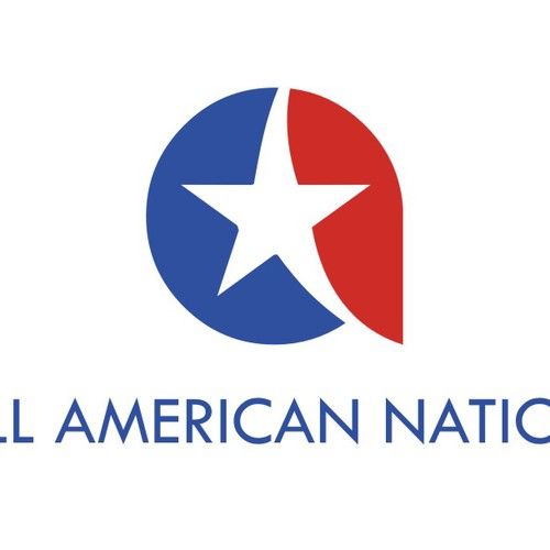 logo for ALL AMERICAN lifestyle brand, 18-35 yr olds