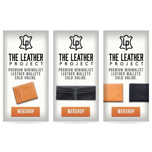 Leather wallet banner