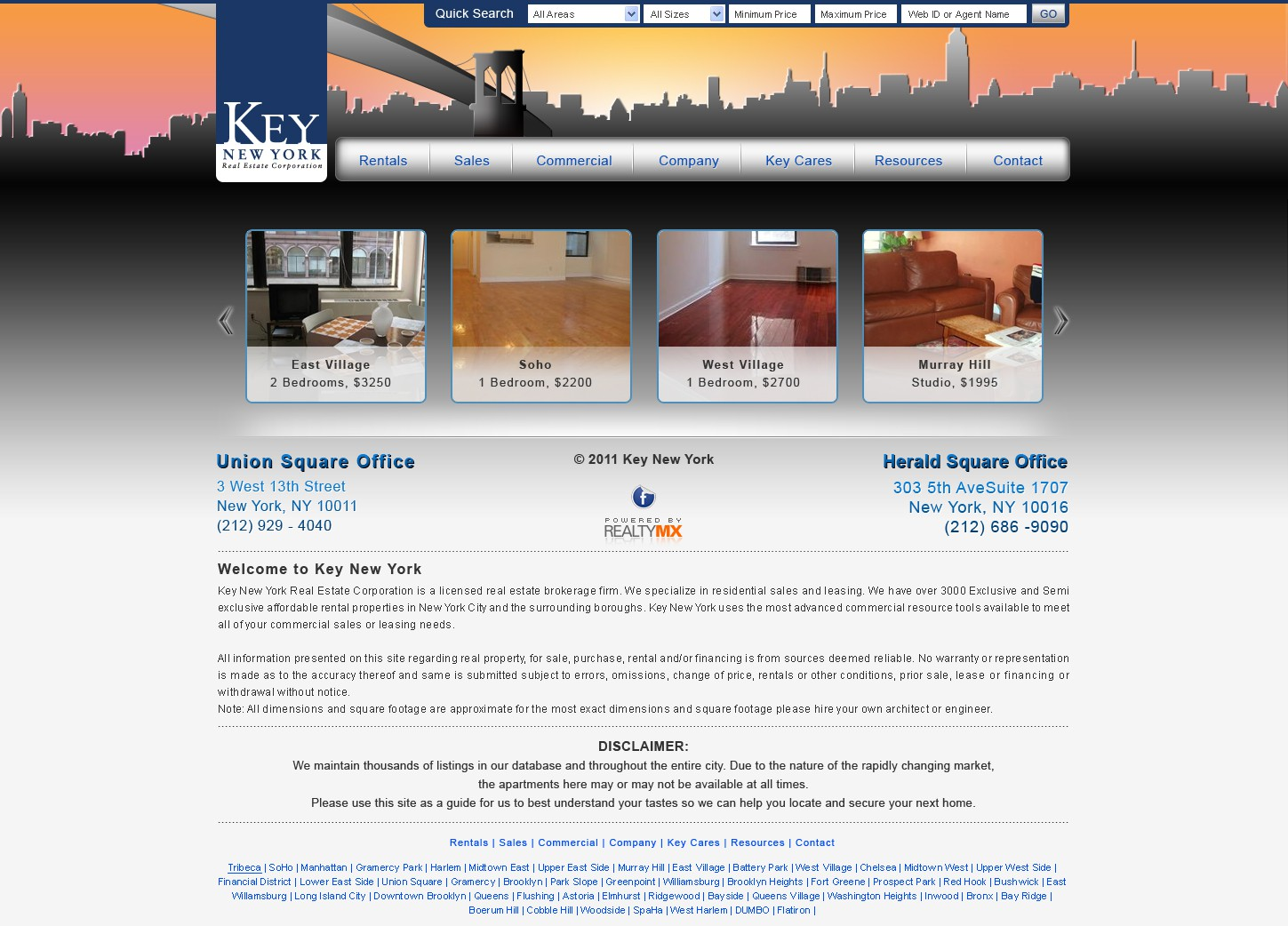 Create the next website design for Website redesign-Key New York