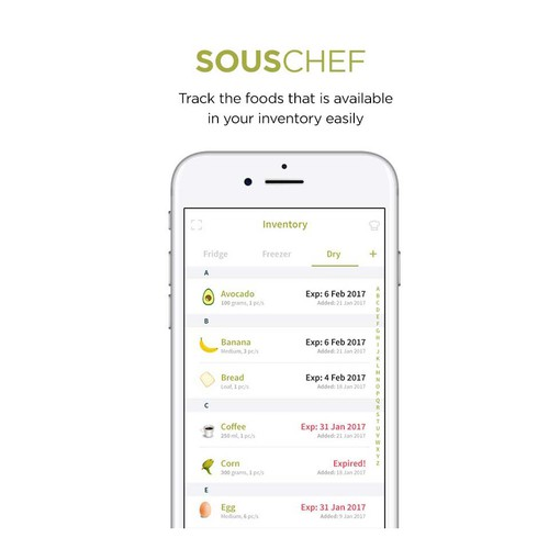 Modern clean design for food app