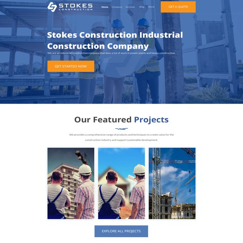 Website for industrial construction company capable of any job, while not being a soulless corp