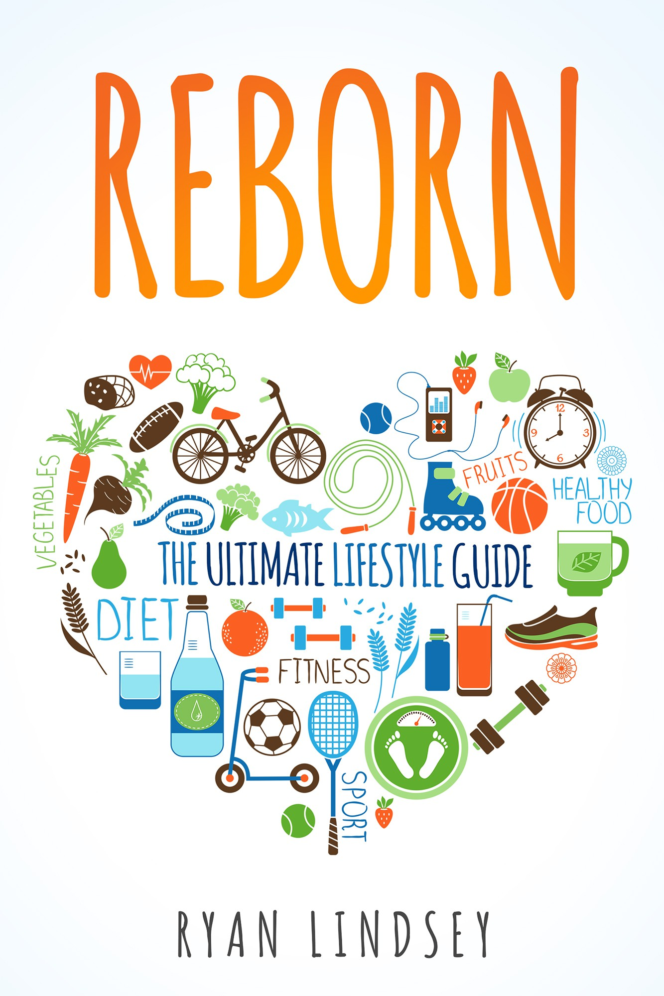 Create eBook front cover for the ultimate lifestyle guide