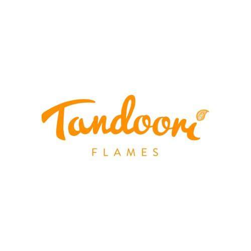 logo concept for Tandoori Flames, an Indian restaurant