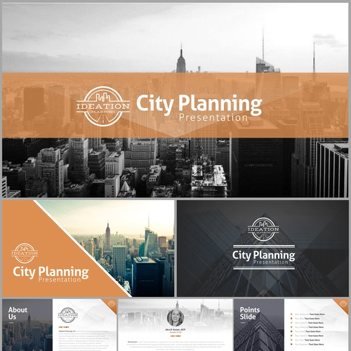 Industrial Chic PPTX Template: for presentations on city planning research, analysis, trends