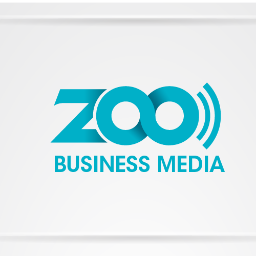 logo and business card for Zoo Business Media.